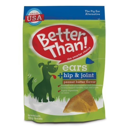 Better Than Ears Peanut Butter Flavor Dog Treats, 7.78oz (2 Pack)
