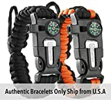 Tactical Survival Bracelet [2 pack] - Paracord 550 +...