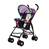 Ultra Lightweight Stroller Pushchair Folding Portable Children's Baby Summer Sunshade Cover Pram kids four-wheeled Cart Carrycot Buggy (Rainbow3)