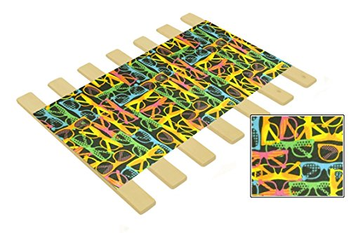 Neon Sunglasses Themed Youth / Toddler / Crib Size Custom Width Bed Slats - Choose your needed size - Eliminates the need for a link spring or box spring! -