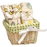 Trend Lab Dr. Seuss Bib and Burp Cloth Basket Gift Set, The Lorax, 7 Piece