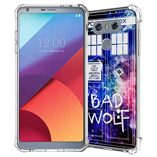 LG G6 Case, SuperbBeast Slim Thin Scratch Resistant TPU Gel Rubber Soft Skin Silicone Protective Case Cover for LG G6 2017 (Police Box Pattern)