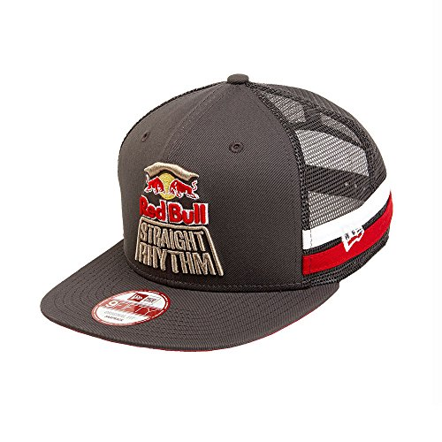 Red Bull Straight Rhythm Stripe Trucker Hat - Red Era New Bull
