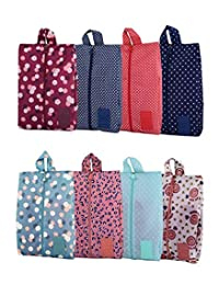 Portable Oxford Travel Shoe Bags with Zipper Closure Waterproof Storage Organizer Bag for Makeup Bathing Clothes, 8 Pack