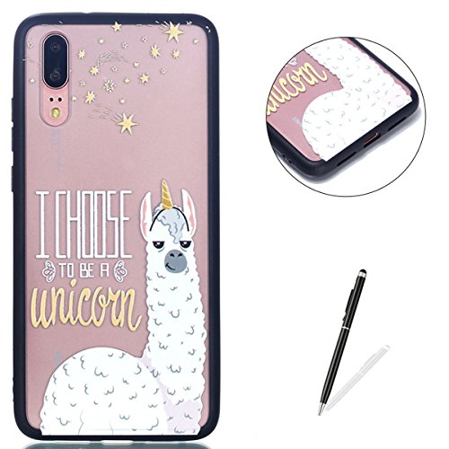 (KaseHom Huawei P20 Pro TPU Case with [Free Touch Stylus Pen] Crystal Clear Funny Animals Pattern Back Slim Silicone Anti-Scratch Durable Protective Cover Shell - Funny)