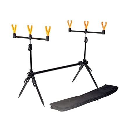 Lixada Fishing Rod Stand Adjustable Retractable Carp Fishing Pole Pod Holder with Rest and Carrier Bag