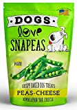 Dogs Love Snapeas Crunchy Dog Treats, Gluten And Wheat Free, Peas And Cheese Flavor, 2.5 Ounce Bag