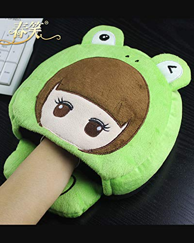 Spring Laugh Hand Warmer Mouse pad Heated Warm Mouse Hand Warmer Winter Heating Sleeve Cuff Winter Heating (Frog Little Sister
