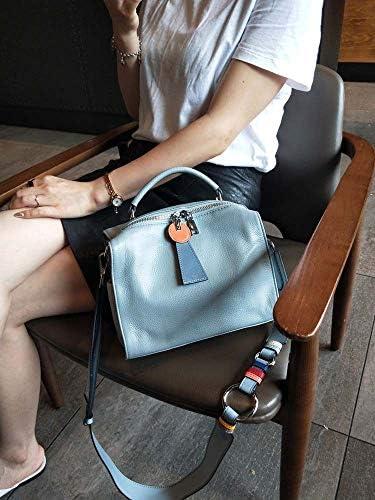 JIA JIA Dames De Mode Sac À Main en Cuir Bleu Sac À Main Loisirs Sauvage Vachette Souple De Grande Capacité (29 * 19 * 17cm) Brillant
