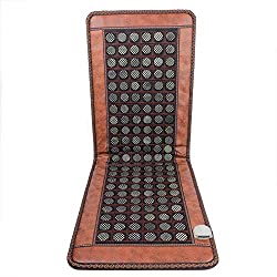 Stone Heating Pad Mat 50cmx150cm Tourmaline Natural Jade Negative Ions Infrared Pad Massager for Pain Relief