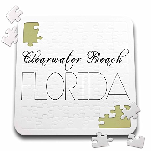 Alexis Design   American Beaches   American Beaches   Clearwater Beach  Florida  Black On White   10X10 Inch Puzzle  Pzl 271484 2