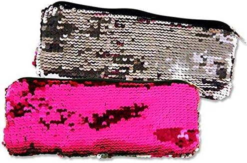 Emotionery Blingtastic - Estuche Plano con Lentejuelas, Color Rosa y Plateado: Amazon.es: Hogar
