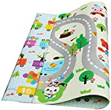 Play Mat For Babies, Toddlers and Kids PEP STEP | Large Baby Mat 70 inch x 78 inch | Latest Child-Friendly Cushioning Technology | Non-Toxic Tested Safety Standards | Baby Learning Development Design Review