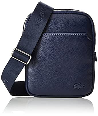 Lacoste Men's Gael Xs Flat Crossover Bag, Peacoat,One Size (Standard)