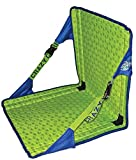 HEX Folding Stadium Seat Adjustable With Foam Cushion, Water Resistant, Royal Lime
