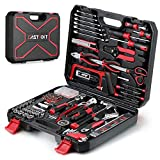 218-Piece Household Tool kit,Auto Repair Tool Set, EASTVOLT Tool Kits for Homeowner, General Household Hand Tool Set with Hammer,Plier,Screwdriver Set,Socket Kit,with Carrying Tool Box, EVHT21801