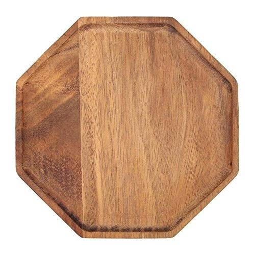 Blue-Ocean-11 - Creative Acacia Wood Plate Dishes Rectangle Octagonal Food Dessert Tea Dinner Tray Kitchenware Dinnerware Outdoor Tableware