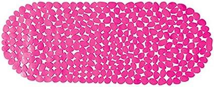 39 x 99 cm Effetto ciottoli MSV 2108473-Tappetino per Vasca da Bagno Colore: Fucsia
