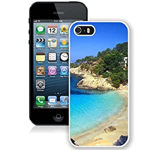 NEW Unique Custom Designed iPhone 5S Phone Case With Ibiza Beach Landscape_White Phone Case
