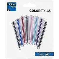 Bigben Interactive N3DSSTYLUS Multicolour stylus pen - stylus pens 31 g, Confezione 8 pennini