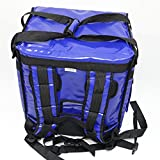 PK-65Abl:10''-12'' Pizza Delivery Backpack Bag, Open from top and Side. Insulated Food take Out Box, Insulated Cabinet for Catering, Restaurant, Delivery Drivers 16'' L x 12'' W x 18'' H (Blue)