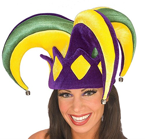 Mardi Gras Queen Adult Costumes (Rubie's Costume Mardi Gras Royale Jester Hat, Adult)