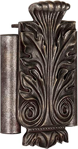 Craftmade CAT-RC Designer Acanthus Leaf Twin Tube Door Chime, Hand Painted Renaissance Crackle (11.75