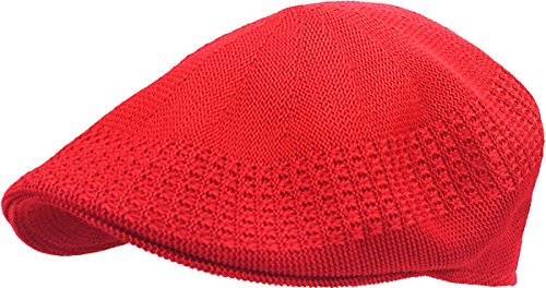 KBETHOS KBM-001 RED L Classic Mesh Newsboy Ivy Cap Hat (21 Colors / 4 Sizes)