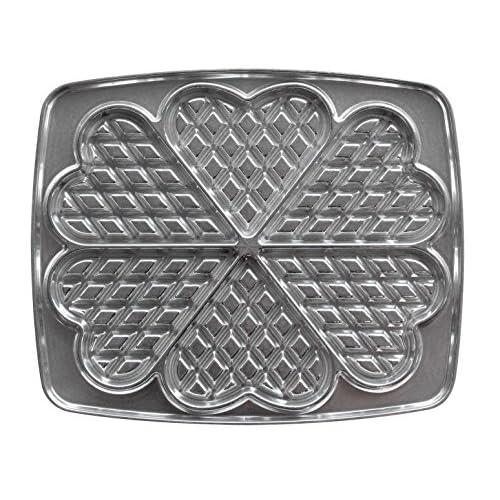 Lagrange 030521 Gaufres Cœur Plaques en fonte d'aluminium pour gauffrier (Compatible avec les références: 039111, 039211, 039411, 039511)