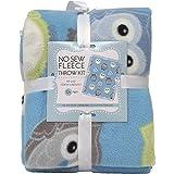 Owls No-Sew Throw Fleece Fabric Kit