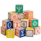 Uncle Goose Greek Alphabet Wooden Blocks – Made in the USA, Baby & Kids Zone