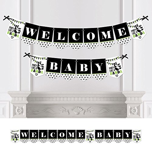 Big Dot of Happiness Party Like a Panda Bear - Baby Shower Bunting Banner - Party Decorations - Welcome Baby]()