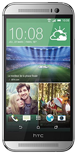 HTC One M8 Smartphone (5 Zoll (12,7 cm) Touch-Display, 16 GB Speicher, Android 4.4.2) silber