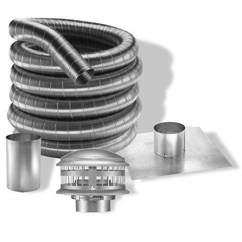Dura-Vent 4DFA-25K 4 x 25 DuraFlex Aluminum Chimney Liner Kit by DuraVent