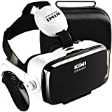 Cheap VR Virtual Reality Headset with Trigger / Headphone / Remote Controller and Hard Travel Storage Bag Fit for iPhone Android and Microsoft Smartphone
