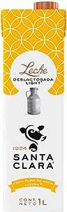 Leche Deslactosada Light , Leche Santa Clara 1 litro, Pack de 12
