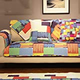 Z&HX sofa covers,Bay window cushion,1/2/3/4 seater,Sofa towel,Modern and simple Water Resistant Furniture Protector Quilted/Import/sofa four seasons, 43X62in