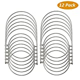 TedGem 12 Pack Wire Handles (Handle-Ease) for Mason, Stainless Steel Mason Jar Hanger, Canning Jars Hanger, Hanging Jars, Jar hanging Hook for Regular Mouth Mason, Ball Review