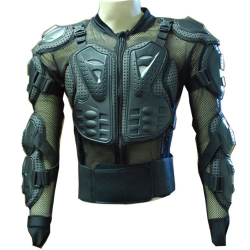 MOTORCYCLE MOTOCROSS BIKE GUARD PROTECTOR BODY ARMOR BLACK CE Approved