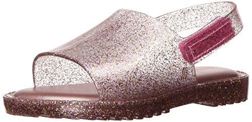 Mini Melissa Girls' Mini Mia + Fabula II Flat Sandal, Pink Mix Glitter, 8 Regular US Toddler by Mini Melissa