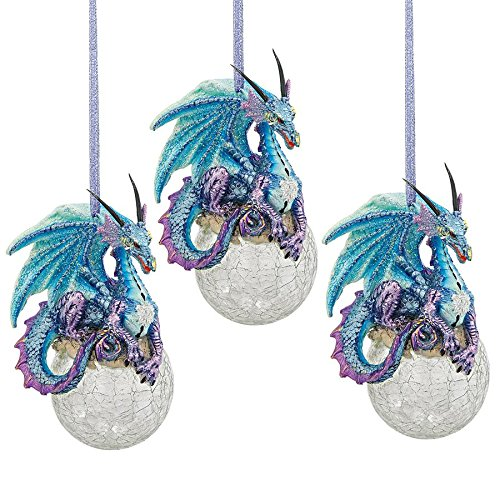 Design Toscano Frost, The Gothic Dragon Holiday Ornament,