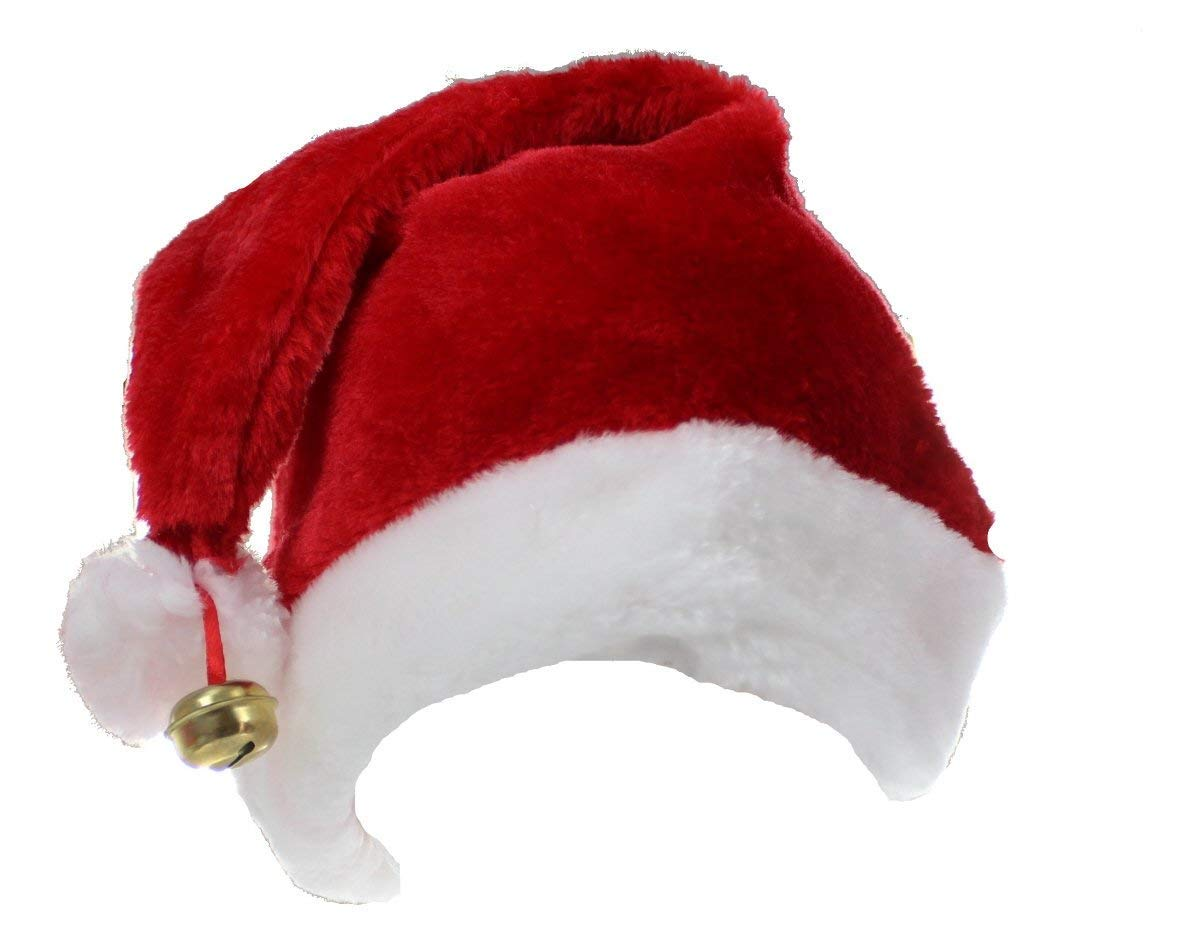 Adult Deluxe Unisex Santa Hat With Bell Christmas Xmas Fancy Dress Accessory New