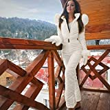 Women's Ski Suit Hooded Thicken Warm Jumpsuit