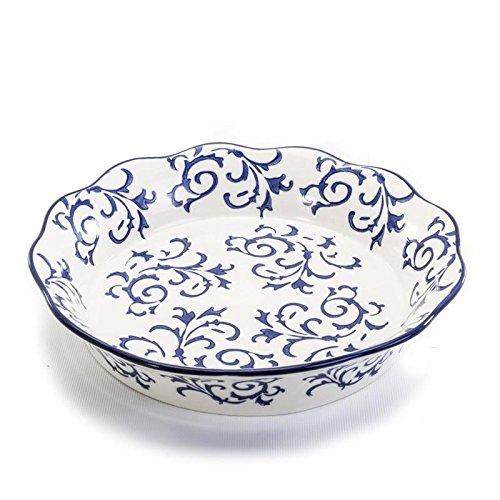 Stoneware Porcelain (BIA Cordon Bleu White Stoneware Fluted 10 inch Pie/Quiche Dish)