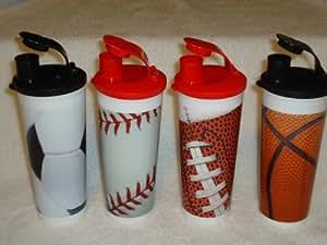 Amazon.com | Tupperware Sports Set of 4 Tumblers. Football