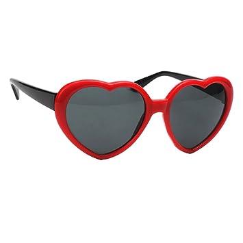 Homyl Par de Gafas de Sol Corazón Rojo Hermosa Linda ...
