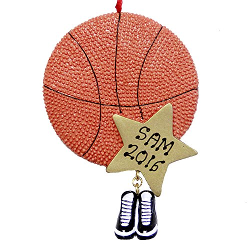 Personalized Sports BasketBall Christmas Ornament -Free Personalizatio - Basketball Ornament
