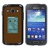 LASTONE PHONE CASE / Slim Protector Hard Shell Cover Case for Samsung Galaxy Ace 3 GT-S7270 GT-S7275 GT-S7272 / Cool Beach Brown Pattern Focus