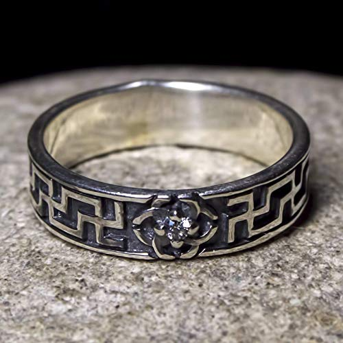 Svadebnik Sterling Silver Viking Ring Norse Wiccan Jewelry Slavic Pagan Celtic Rings for Women