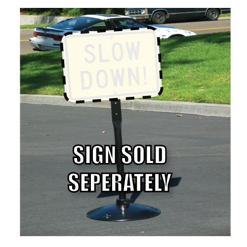 35-Pound Portable Cast-Iron Sign Post, Base, and ()